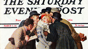 Saturday Evening Post Cover by Norman Rockwell