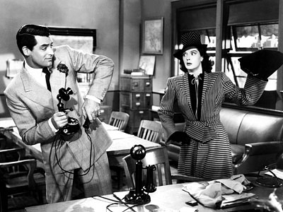 His Girl Friday -- Grant and Russell